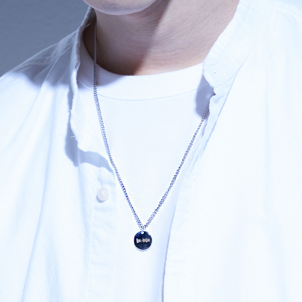 [하와:HAWHA] Circle Logo Necklace